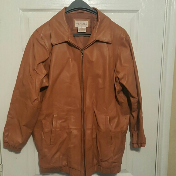 7cbe3b9c Venezia Jackets & Coats | 20w Leather Coat Camel Color 55 | Poshmark